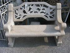 Panchina da Giardino in Marmo Arredamento Esterno Vaso Fontana