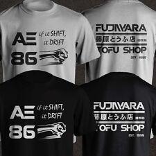 Takumi Fujiwara Tofu Shop Delivery AE86 Initial D Manga Shift Drift Men T-Shirt