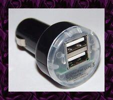 ★★★ Mini CHARGEUR Voiture 2 USB Pour ASUS TF101 / TF201 / Slider SL101 ★★★ NOIR