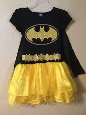 BATMAN Super Hero Costume Girls Tutu Dress size M(7/8)