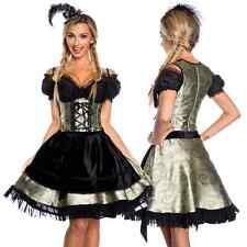 Dirndl Tracht Kleid Trachtenkleid Dirndlkleid Wiesn Grün Schwarz Oktoberfest