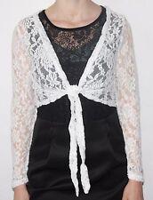 Bolero Evening Jacket Bridal Shawl for Tie Front off Peak Ar: Muse Size: S-XL