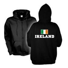Kapuzenjacke IRLAND Flagshirt Zip Hoodie Fan Sweatjacke S-6XL (WMS02-27e)