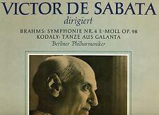 "VICTOR DE SABATA BRAHMS SINFONIA NO. 4 KODALY DANZE DA GALANTA 12"" LP (L5534)"