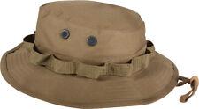 Coyote Brown Military Wide Brim Fishing Hunting Boonie Hat