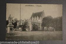 Postcard antique HEAVY - asylum