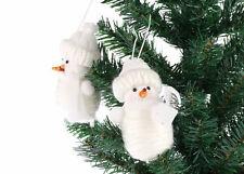 hecho a Mano Muñeco De Nieve Árbol Navidad Decoración, figurita adorno tela