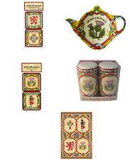 Scottish weave kitchen gifts cruet set, tea bag holder, tea towel, coasters