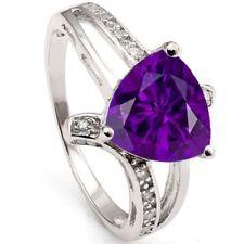 Damen Ring Alexa, 925er Silber, 1,64 Kt. echter Amethyst/Cubic Zirkonia