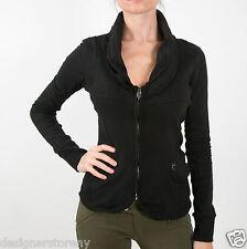 MET in Jeans COLLOROUGH Stretch Plush slim jacket long sleeves in Black