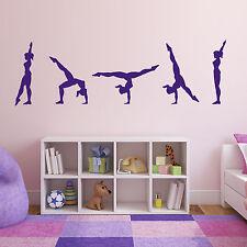 Gymnast Performing Walk Over Wall Sticker - Gymnastics Wall Sticker Set