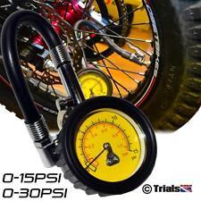 High Accuracy Low Air Pressure Tyre Gauge-0-15psi or 0-30psi-Trials-MX-Enduro