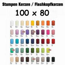 6 Stumpen Kerzen 100x80mm 1.Wahl Qualität / Kerzen Wiedemann / neue Farben 2016