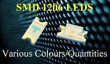 1206 SMD LED super ultra brillante de montaje en superficie Varios Colores/Cantidades