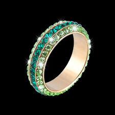 Design-Ring mit Swarovski-Elements, Vergoldet, Crystallized, Farbe Grün-Gold