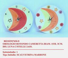 Orologio tondo diametro 15cmdecorato per cameretta bimbi