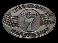 ND29126 **SEAGRAM'S 7 INTERNATIONAL BATTLE OF THE BANDS** BOOZE BELT BUCKLE