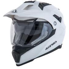 NEW Acerbis Mx Flip FS-606 White Dual Sport Motocross Dirt Bike Adventure Helmet