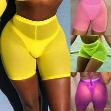 Mujer Shorts Muy Cortos Casual Verano Holgado Pantalones Cortos Malla Playa