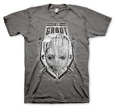 offiziell lizenzierte groot distressed shield t-shirt herren s-xxl größen