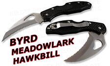 Spyderco Byrd Meadowlark Hawkbill Serrated Edge BY22SBK