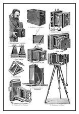 Catálogo De Cámara Alemán Antiguo Victoriano Ilustración A3 cartel reimpresión