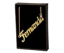 "Name Necklace ""FERNANDA"" – 18K Gold Plated | Neckless Love Girlfriend Christmas"