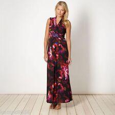 New Debenhams Digital Floral Black/Pink Maxi Dress Sz UK 10 rrp £65