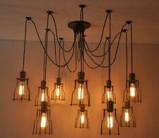 6/8/10 Bulb Lights Edison Chandelier Suspension Ceiling Pendant Spider COPPER