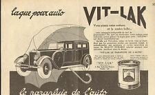 PARIS AMBROISE-THOMAS LAQUE POUR AUTO VIT-LAK PUBLICITE 1929