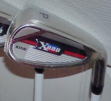 King X888 Golf Irons Assembled w/ Accuflex Vizion Graphite & Lamkin Wrap Grips
