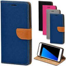 Handy Hülle Samsung Galaxy S3 Cover Schutz Tasche Slim Flip Case Bookcase Jeans