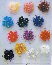 36 wedding bridal pearl satin organza flower favor pick