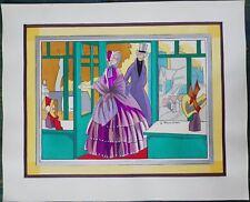 Grand POCHOIR ART-DECO Jacques TOUCHET 1920 Mode XIXe