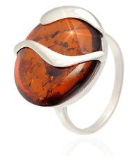 Ring Bernstein Amber Silber 925 verschiedene Größen 52, 53, 54, 56