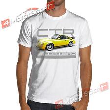 1987 Classic Ruf CTR Yellowbird Racing T-Shirt White or Gray Rally Porsche 911