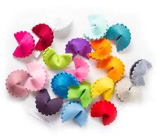 SCALLOP Glückskekse aus Filz in 34 verschiedenen Farben Geschenk Gastgeschenke