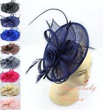 Fascia Cerchietto Hat Piuma Capelli Fascinator Matrimoni Ballo Royal Ascot