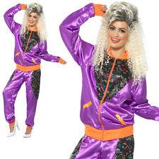 80s Shell Suit Costume Scouser Tracksuit Womens Ladies Fancy Dress UK 8-18