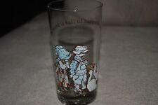 HOLLY HOBBIE Vintage Glass 1978 Boy Girl Geese American Greetings Happy Surprise