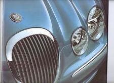 VERY OVERSIZED JAGUAR S-TYPE 3.0 V6, 3.0 V6 SE AND 4.0 V8 SALES BROCHURE  2000