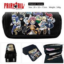 Children's Fairy Tail Canvas pencil case zipper pen bag Storage bag make up case