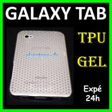 Accessoire Etui Coque TPU Gel Samsung Galaxy Tab P1000 Transprent +Film