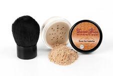 2pc Mineral Foundation & Kabuki Brush Set Makeup Bare Skin Powder Natural