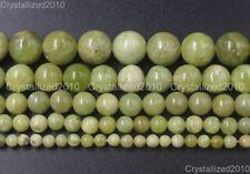 "Natural Gemstone Peridot Olivine Round Beads 4mm 6mm 8mm 10mm 12mm 14mm 15.5"""