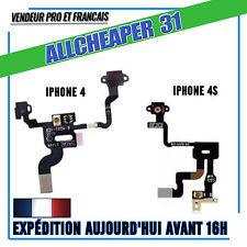 NAPPE BOUTTON POWER IPHONE 4 4S ON OFF + SONDE CAPTEUR DE PROXIMITE
