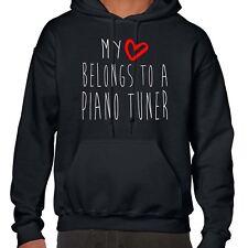 Il mio cuore appartiene a un Pianoforte Tuner Felpa con Cappuccio