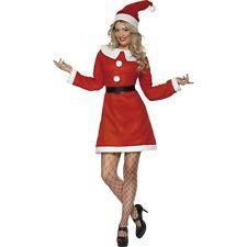 Christmas Xmas Miss Santa Claus Womens Ladies Fancy Dress Costume