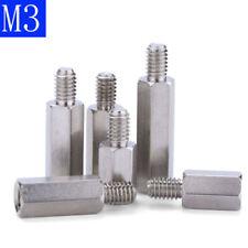 M3 + 6 303 Stainless Steel Male Female Spacers Hex Column Standoff Pillar Stud