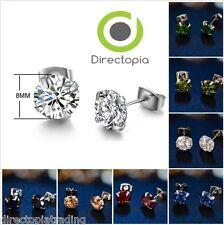 Cubic Zirconia Crystal Cute Stud Earrings 7 Colours Stunning